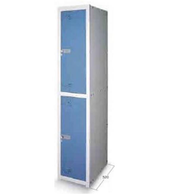 Taquilla metal 2 puertas 1800x280x520mm JOMASI TQ250