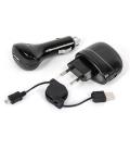 CARGADOR BAT UNIV USB + COCHE AXIL