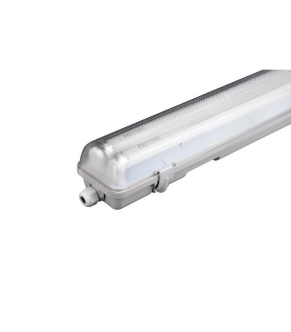 Pantalla iluminación PVC 2x58W