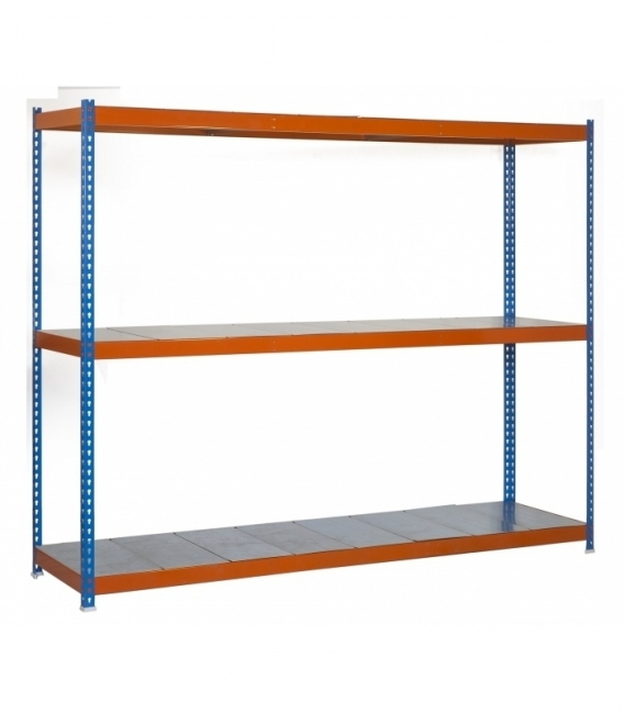 Estantería para picking KIT SIMONFORTE 1804-3 METAL AZUL/NARANJA/GALVA