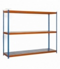 Estantería para picking KIT SIMONFORTE 1806-3 METAL AZUL/NARANJA/GALVA