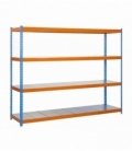 Estantería para picking KIT SIMONFORTE 1504-4 METAL AZUL/NARANJA/GALVA