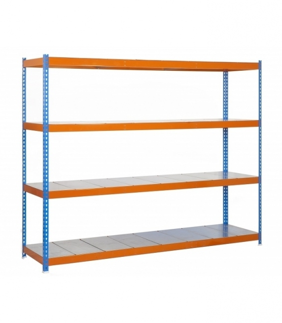 Estantería para picking KIT SIMONFORTE 1809-4 METAL AZUL/NARANJA/GALVA