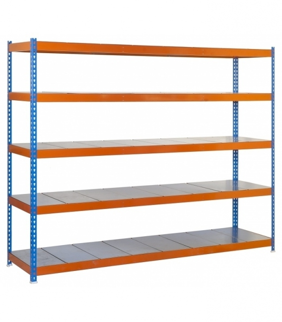 Estantería para picking KIT SIMONFORTE 1804-5 METAL AZUL/NARANJA/GALVA