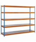 Estantería para picking KIT SIMONFORTE 1806-5 METAL AZUL/NARANJA/GALVA