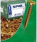 Tornillos bicromatados 05x035mm SPAX