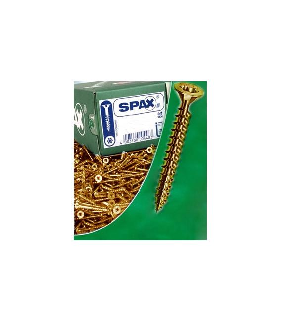 Tornillo rosca madera 04x035mm Bicromatado 1.000 pz. SPAX