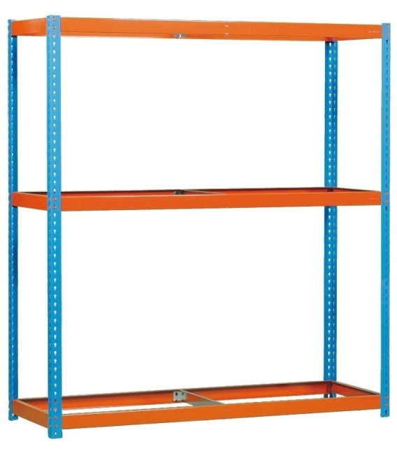 Estantería de media carga KIT ECOFORTE 1806-3 AZUL/NARANJA