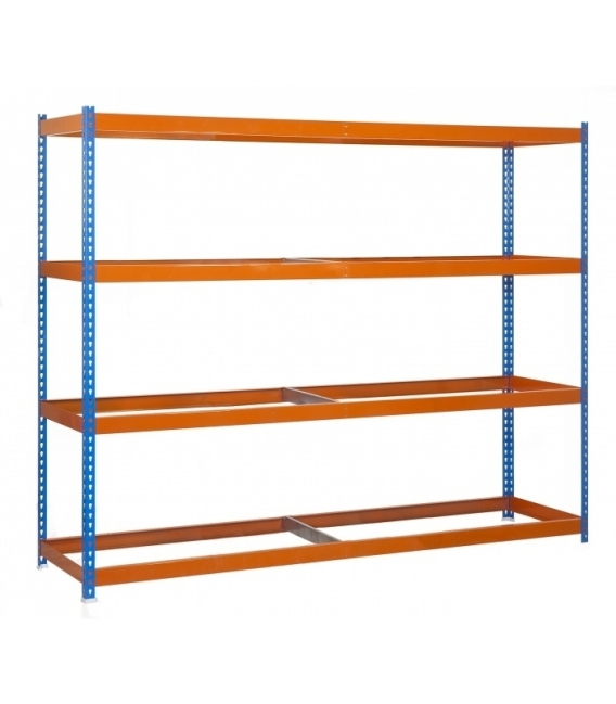 Estantería de media carga KIT ECOFORTE 1506-4 AZUL/NARANJA