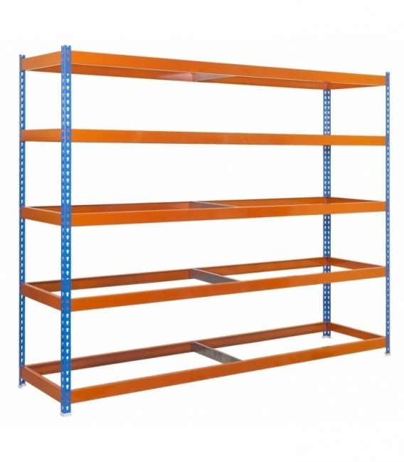 Estantería de media carga KIT ECOFORTE 1506-5 AZUL/NARANJA