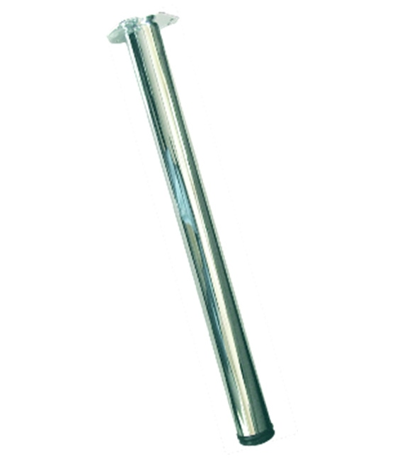 Pata mesa redonda 710x60mm 4 pz Cromo Brillo. MICEL