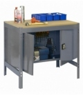 Banco de trabajo Kit Simonwork BT0 Locker 900 Gris/Madera. SIMONRACK