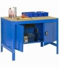 Banco de trabajo Kit Simonwork BT0 Locker 900 Azul/Madera. SIMONRACK