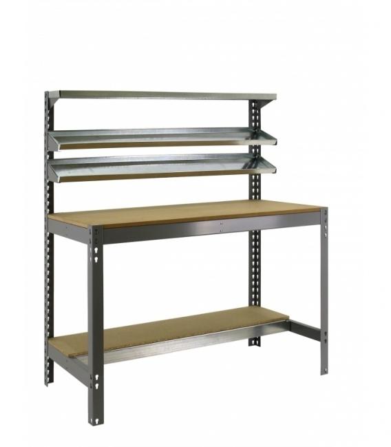 Banco de trabajo KIT SIMONWORK BT1 900 gris/madera. SIMONRACK