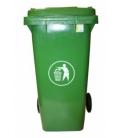 Contenedor de basura con ruedas verde 120 Lt. NATUUR