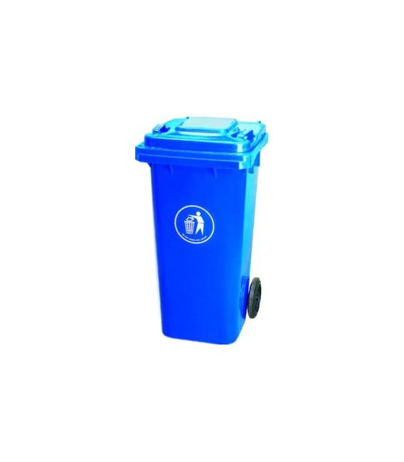 Contenedor de basura con ruedas Azul 120 LT. NATUUR