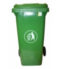 Contenedor de basura con ruedas verde 240 Lt. NATUUR