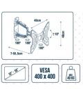 """Soporte Tv Vesa 400X400 32-55"""" Pared 70-555Mm Giratorio. VIVAHOGAR"""
