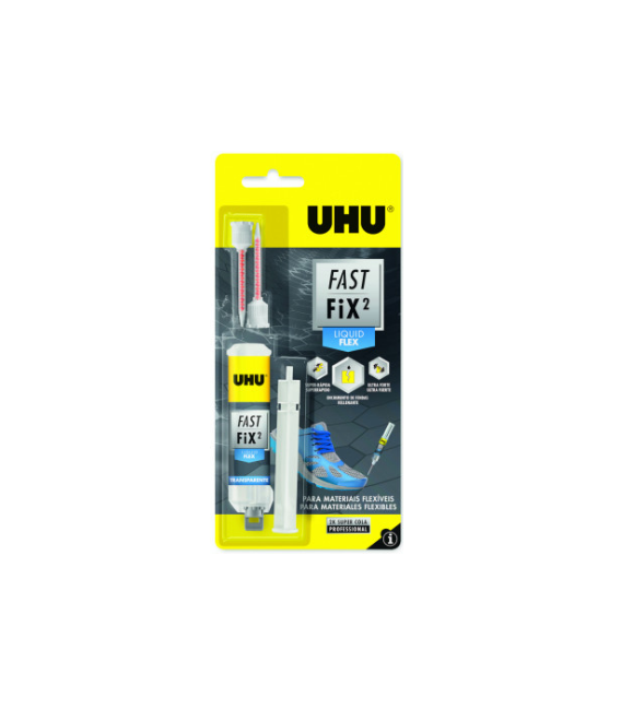Adhesivo reparación flexible UHU FAST FIX LIQUID FLEX