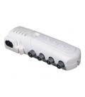 Amplificador coaxial 1 entrada 3 salidas 47-790M. TELEVES