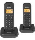 Teléfono inalámbrico duo E155DUO negro. ALCATEL