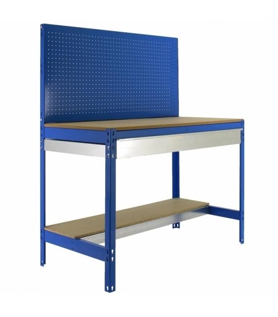 Banco de trabajo Kit Simonwork BT2 Box 1200 Azul/Madera. SIMONRACK