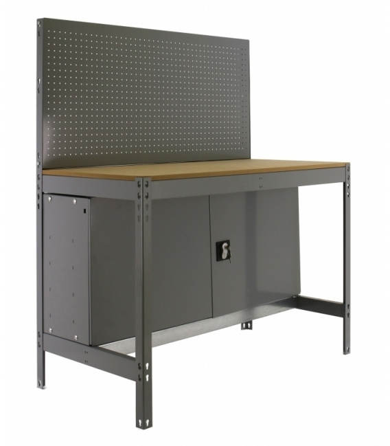 Banco de trabajo Kit Simonwork BT2 Locker 900 Gris/Madera. SIMONRACK