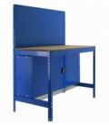 Banco de trabajo Kit Simonwork BT2 Locker 900 Azul/Madera. SIMONRACK