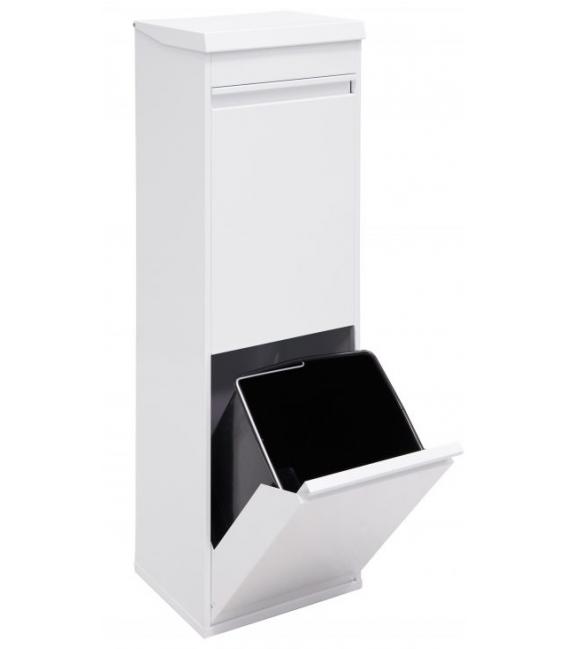 Cubo reciclaje 2 compartimentos ARREGUI con cajón