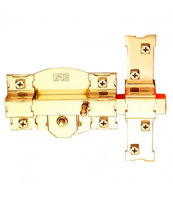 Cerrojo dorado con bombillo FAC 301-R/120