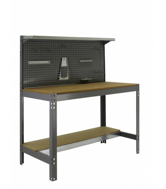 Banco de trabajo KIT SIMONWORK BT3 900 gris/madera. SIMONRACK