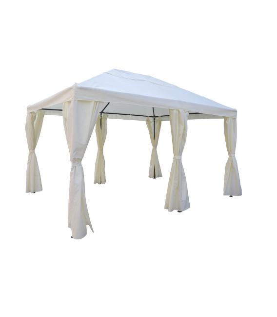 Cenador con cortina 395x296x205 284CM NATUUR