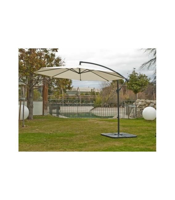 Parasol lateral aluminio 3mts TRYUN