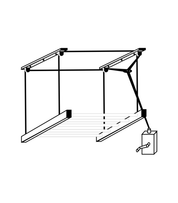 Tendedero techo manivela 180cm Sube-Baja SC TENDEDEROS
