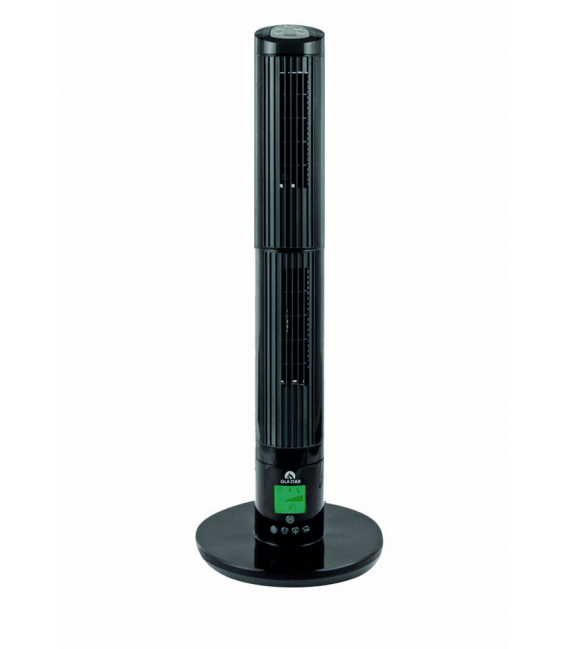 Ventilador clima torre negro. GLAZIAR