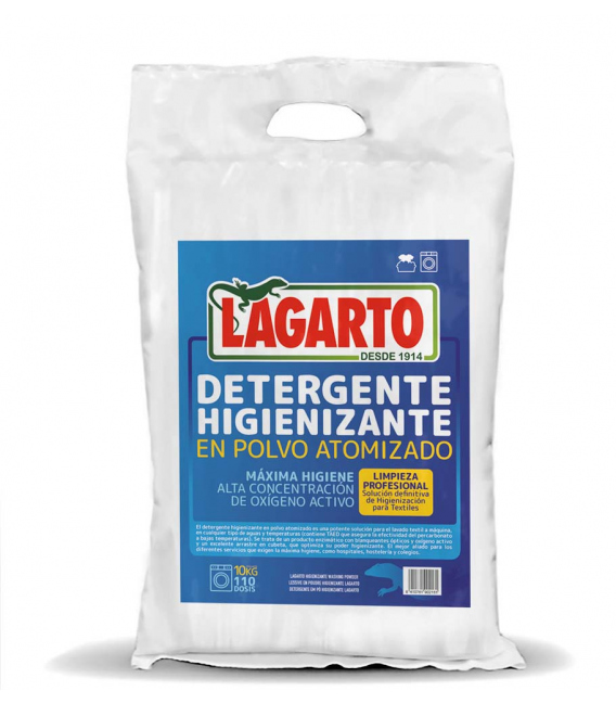 Detergente higienizante polvo 10 KG 3311. LAGARTO