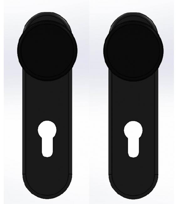 Manivela puerta 72mm CISA 7070