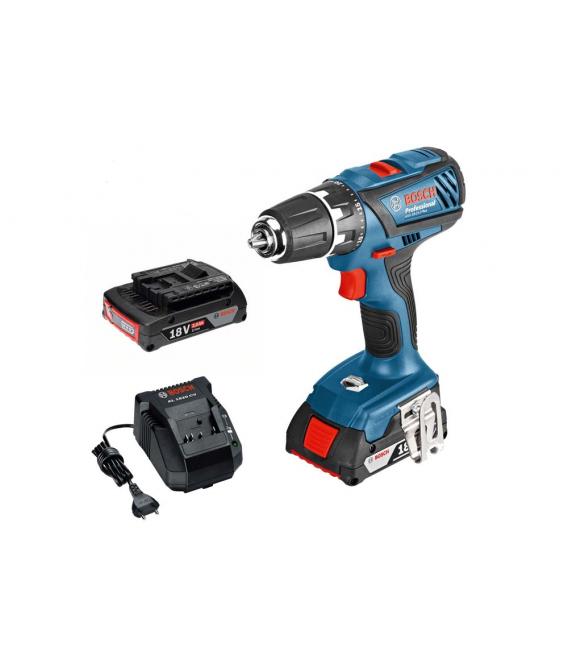 Taladro atornillador 18V Litio 2 baterías GSR 18-2-Li. BOSCH