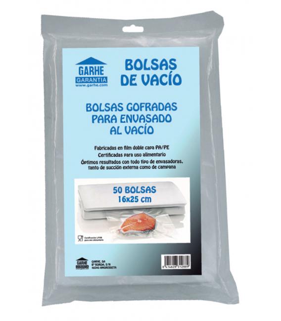 BOLSA VACIO 16X25CM 50 PZ