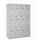 Taquilla metálica SIMONDOORS PROF. MON. 3 DOORS 4/12 300 (1200) GRIS