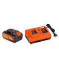Cargador Batería  20V/40V + Bat.2,5Ah/40V. POWERPLUS