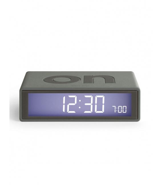 Reloj despertador color gris oscuro LEXON FLIP COLOR. LCD