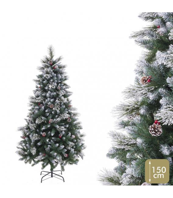 Arbol navidad 450 ramas con nieve 150cm. JUINSA