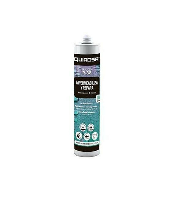 Adhesivo impermeabilizante reparador 290ml QUIADSA Brik-cen R-38 Blanco