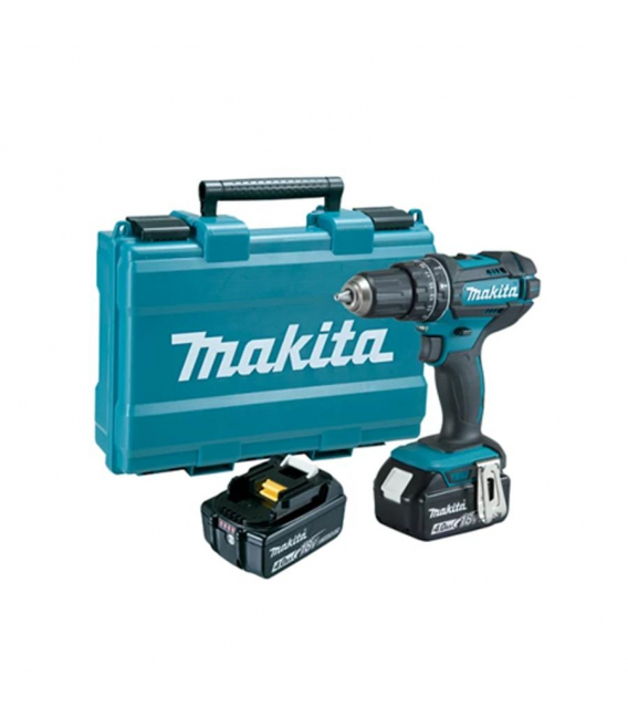 Taladro percutor 2 Baterías MAKITA DHP481