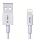 Cable lightning a USB 2.0 Macho/macho SIMON