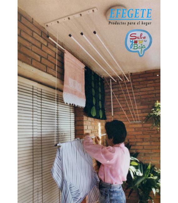Tendedero de techo Largo 140cm EFEGETE Manual