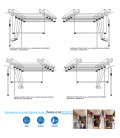 Tendedero de techo Largo 200cm EFEGETE Manual