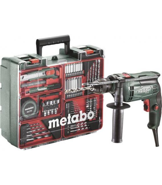 Taladro Percutor 650W METABO SBE 650 set