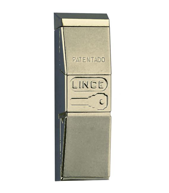 Escudo protector 155 121x36x25 C8 ZAMAK cromo brillo. LINCE